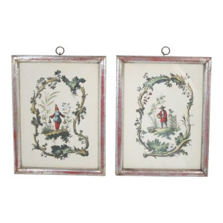 Borghese Chinoiserie Hand Colored Art Prints - a Pair For Sale