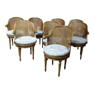 Louis XV Style Dining Chairs Attr Maison Janson - Set of 8 For Sale