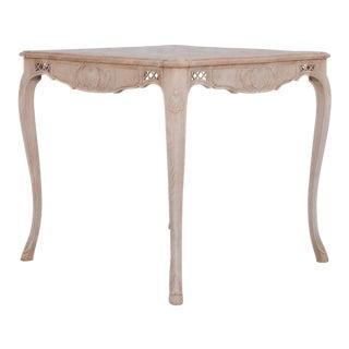Antique Belgian Oak Side Table For Sale