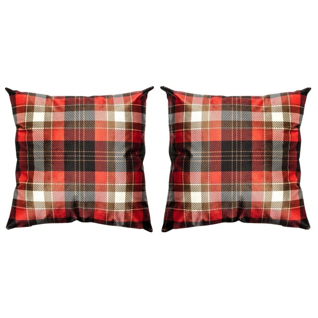 Cover Cushion - Velvet Decorative Pillows - a Pair - Image 1 of 4