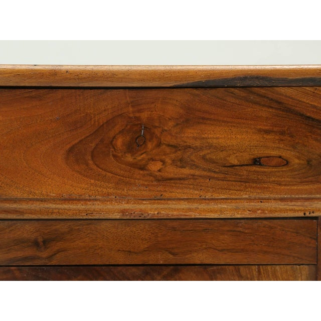 Late 19th Century Antique French Louis Philippe Walnut Nightstand For Sale - Image 5 of 9