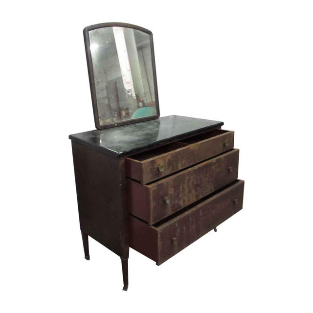 Traditional Metal Dresser With Mirror For Sale - Image 3 of 7