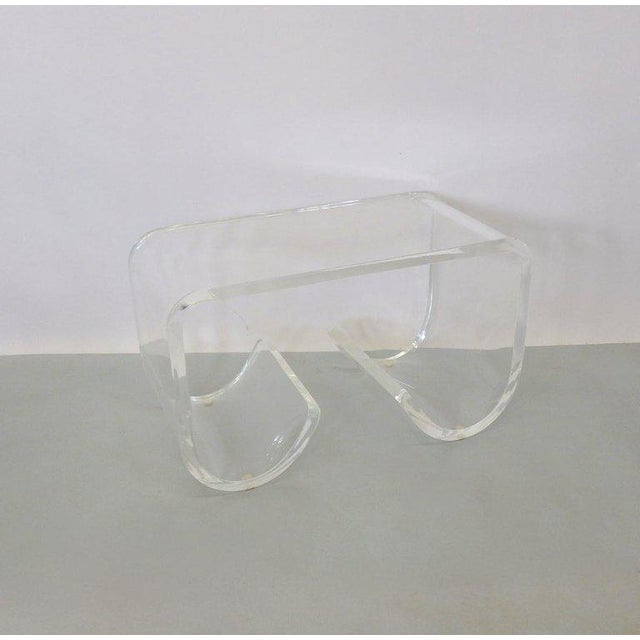 Lucite Cocktail Table or Bench For Sale - Image 4 of 6