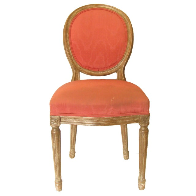 Raspberry Pink Mid 20th Century French Louis XVI Style Chair For Sale - Image 8 of 8