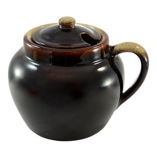 Rustic Round Drip Glaze Pot
