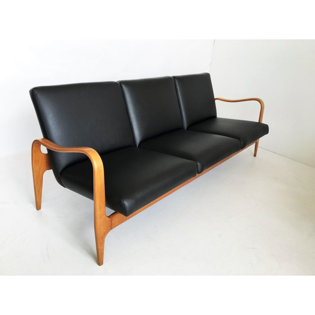 Mid 20th Century Pair of Modernist Thonet Bentwood Sofas For Sale - Image 5 of 13