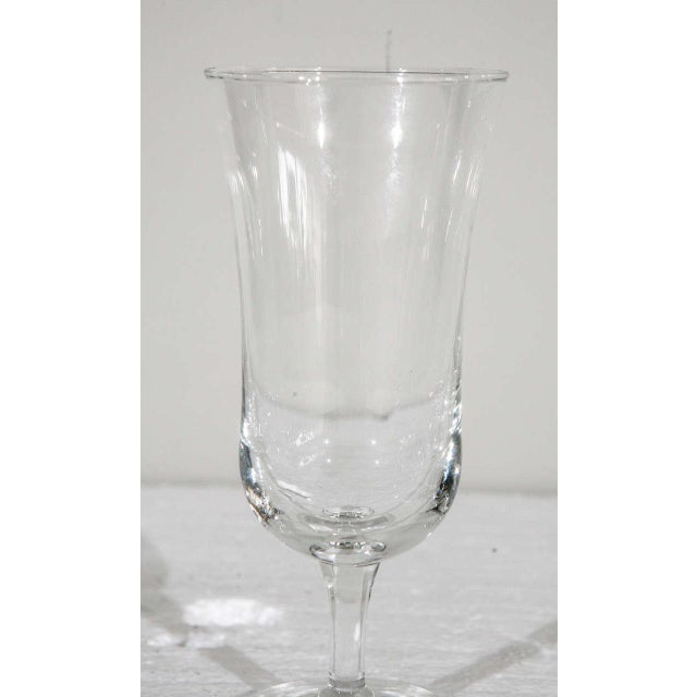 Glass 1940s Danish Modern Holmegaard Crystal Cordial Glasses - Set of 6 For Sale - Image 7 of 9