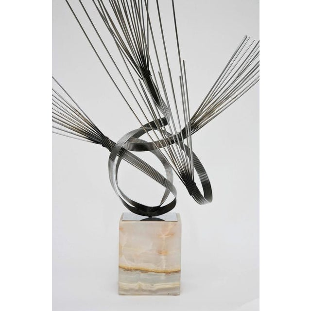 Curtis Jere Large Curtis Jere Spirited Wire Table Sculpture For Sale - Image 4 of 9