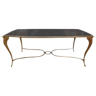 1940s French Maison Bagues Attributed Gilt Bronze Cocktail Table For Sale
