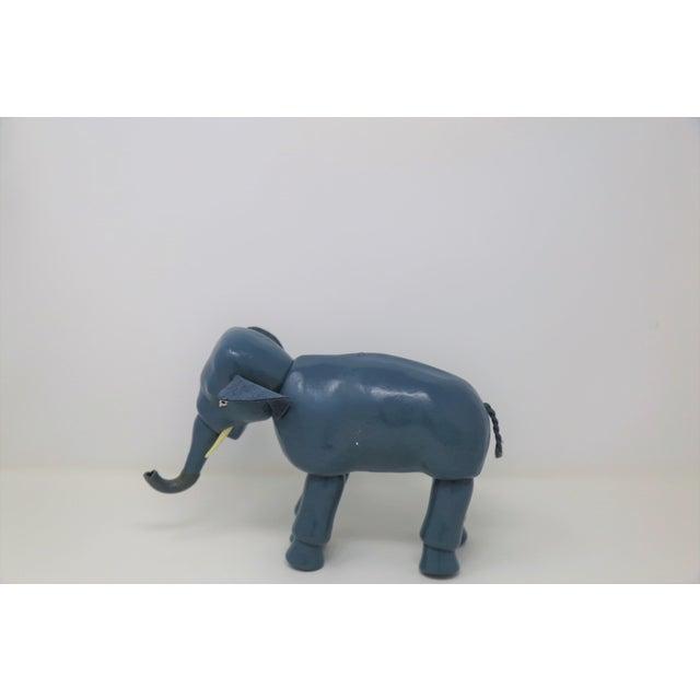 Modern Vintage Blue Elephant Figurine For Sale - Image 3 of 4