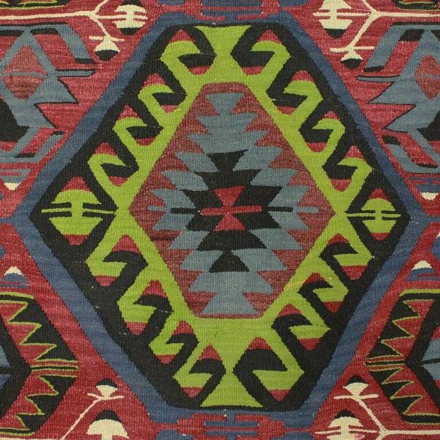 Vintage Turkish Esme Flatweave - 4'7'' x 9'5'' - Image 3 of 4