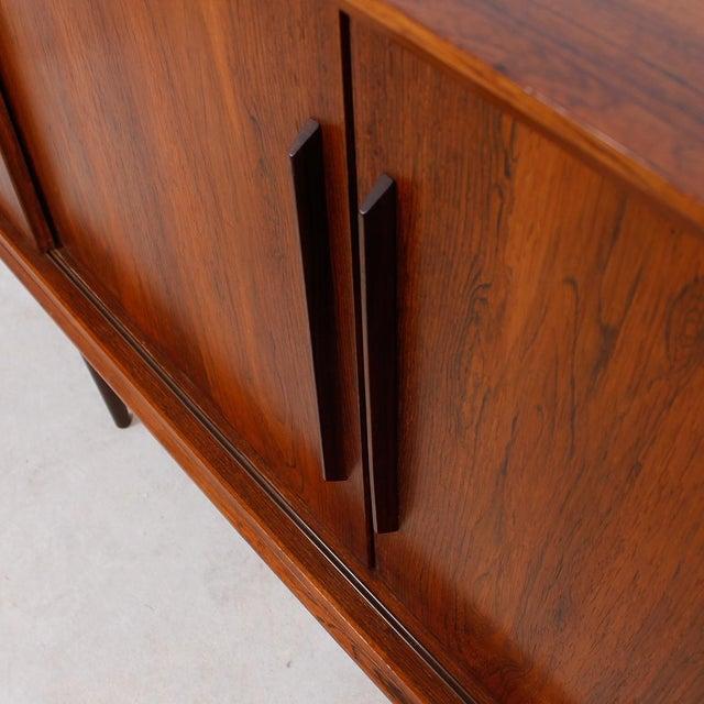 Stately Danish Modern Rosewood 4 Door Sideboard - Image 8 of 9