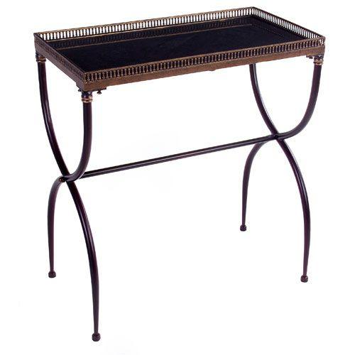 Gold Black Granite Accent Table For Sale - Image 7 of 7