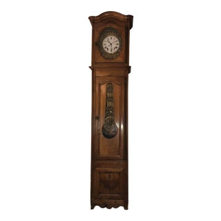 Antique French Morbier Comtoise GrandfatherCase Clock For Sale