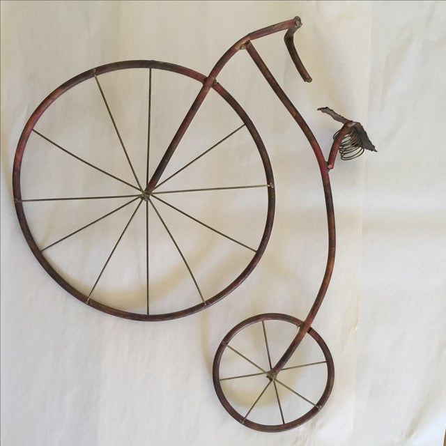 Mid-Century Brutalist Sculpted Copper Bicycle - Image 7 of 10