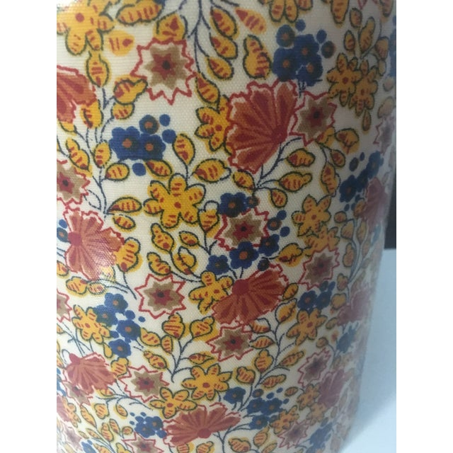Mid-Century Modern Flowered Ice Bucket For Sale - Image 4 of 6