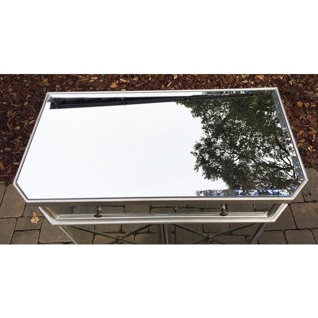 Boho Chic Regency Glam Mirrored Chest Dresser Nightstand For Sale - Image 3 of 10