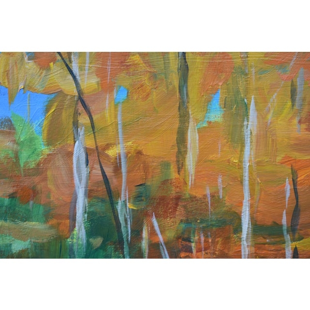 """2010s """"Autumn by the River"""" Acrylic Painting by Stephen Remick For Sale - Image 5 of 9"""