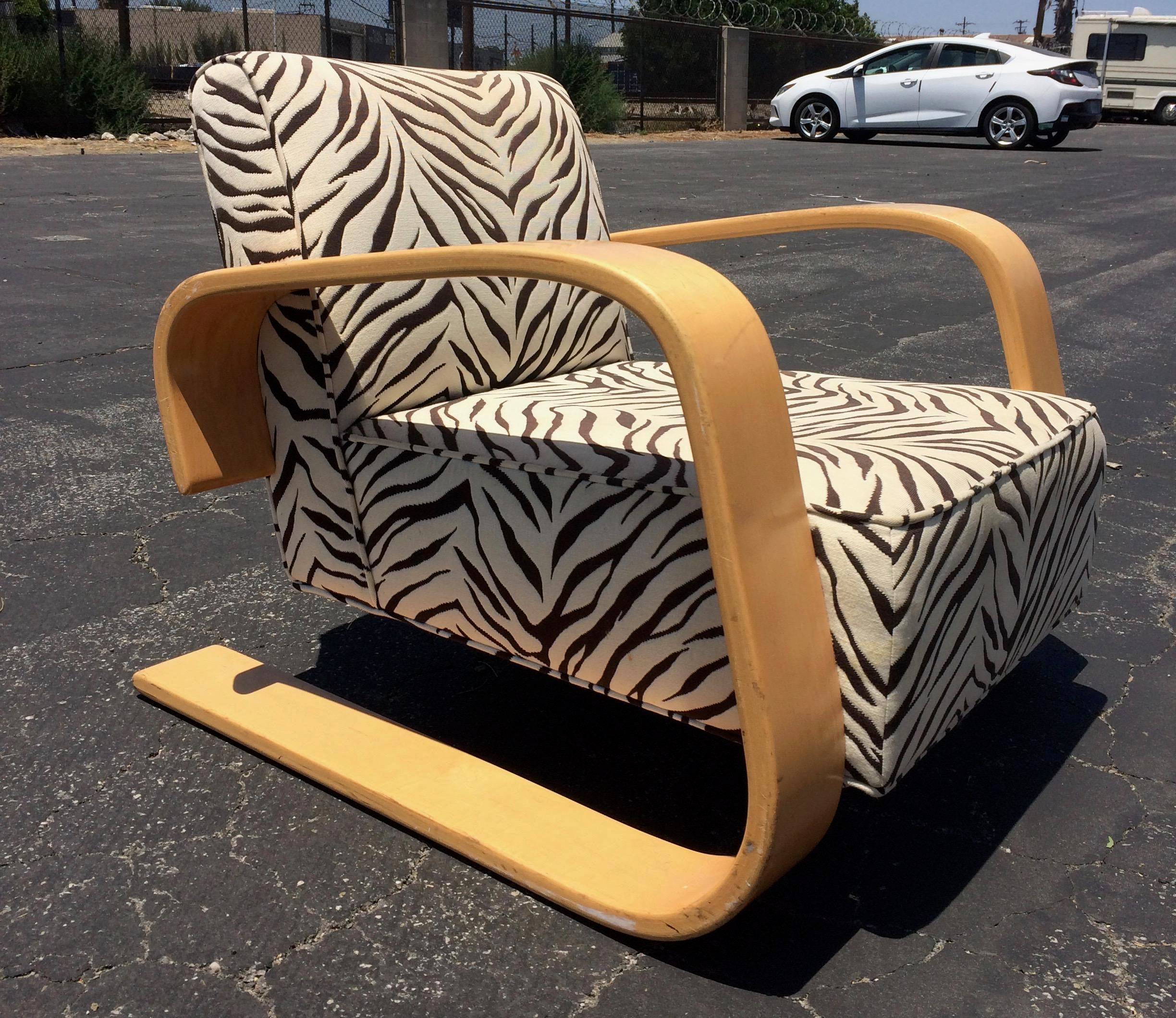 Mid Century Zebra Lounge Chair   Image 2 Of 6
