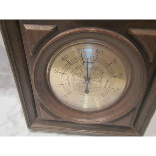 Americana Mid-Century Springfield Thermometer, Barometer, and Humidity Meter For Sale - Image 3 of 8