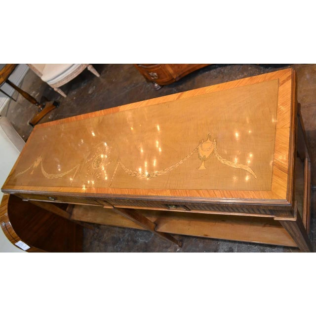Edwardian Marquetry Inlaid Console Table For Sale - Image 4 of 9