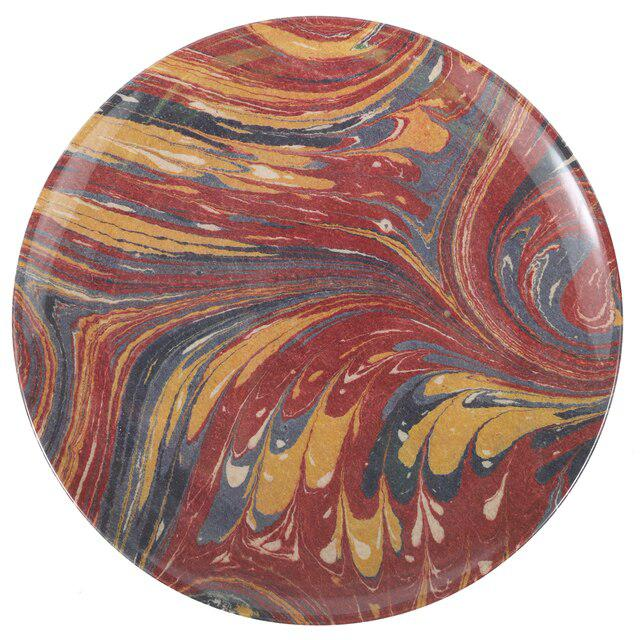 2020s Library Marble Side Plates - Set of 4 For Sale - Image 5 of 8