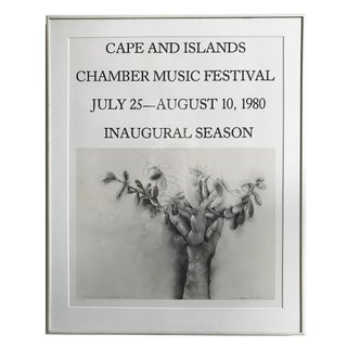 Jim Dine Vintage Signed and Framed Poster - Cape and Islands Chamber Music Festival For Sale