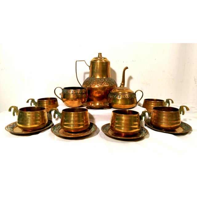 Brass Sea Tail Tea Set- Service for 6 - Image 2 of 9