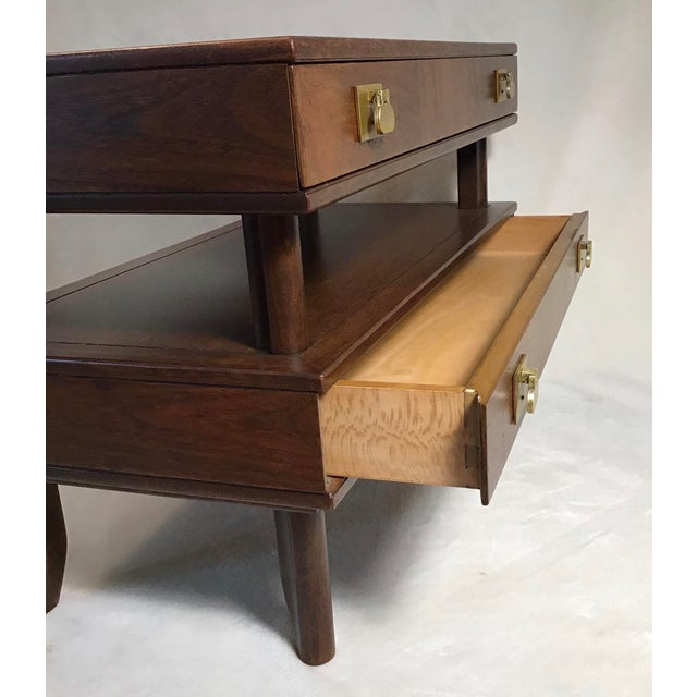 Mid Century Modern Walnut Stacked Style End Table For Sale - Image 4 of 13