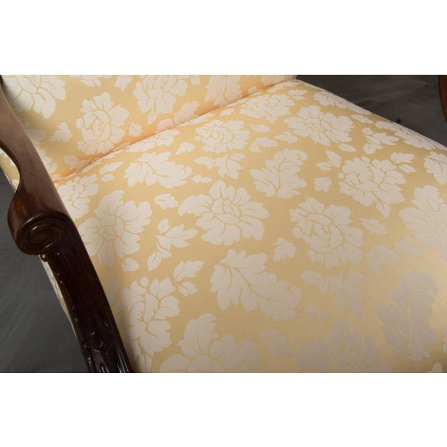 Yellow English Mahogany Upholstered Library Chairs For Sale - Image 8 of 8