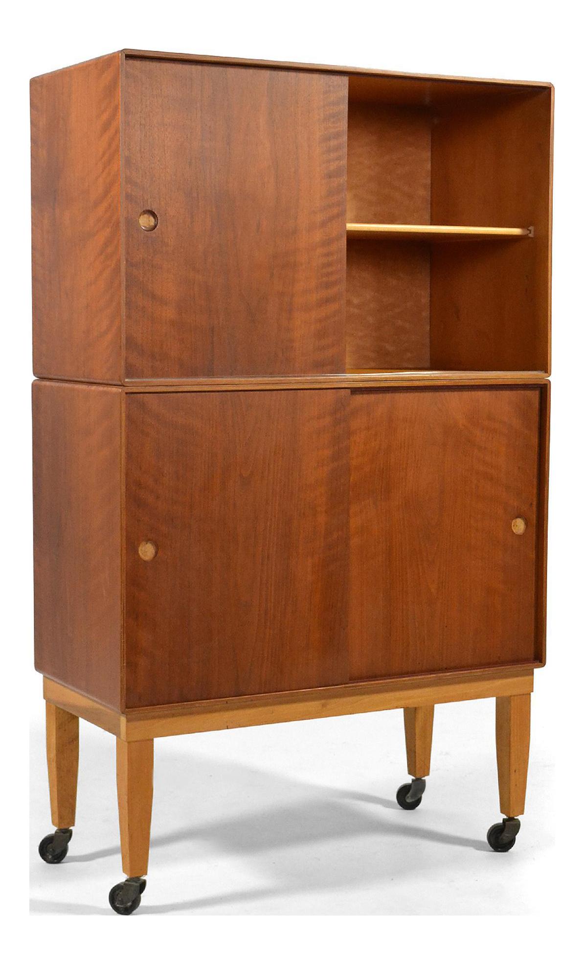 Finn juhl teak birchwood storage cabinet by baker chairish