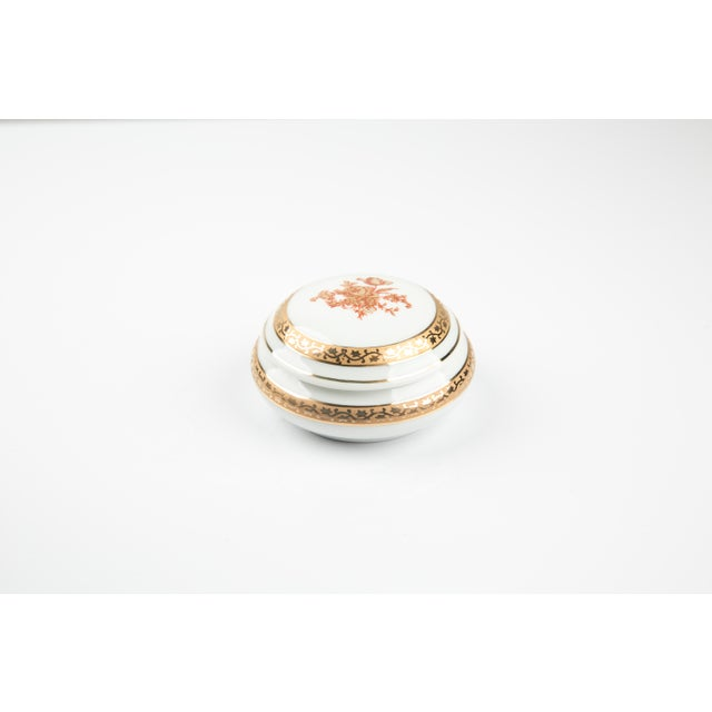 Vintage Limoges France Little Jewelry or Pill Box For Sale - Image 6 of 9