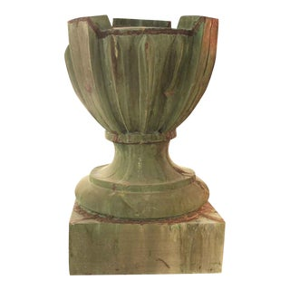 Large Copper Urn Finials - a Pair