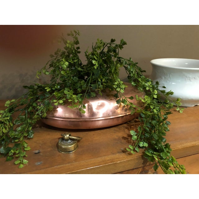 Early 1900s Antique Copper Bed Warmer For Sale - Image 9 of 10