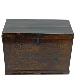 Embossed Phoenix Gansu Trunk For Sale