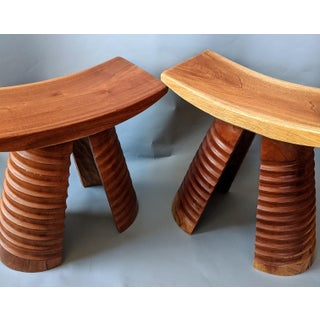 African Handmade Wooden Stool Preview