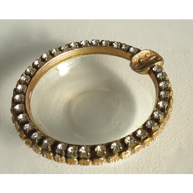Vintage Rhinestone & Glass Ashtray - Image 2 of 3