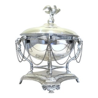 French Empire Style Silverplated Eagle Centerpiece Bowl