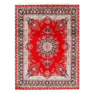 Pasargad Pak Persian Tabriz Design Hand-Knotted Rug - 9′1″ × 12′4″ For Sale