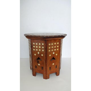 20th Century Anglo-Indian Bone Inlaid Octagonal Tea Table Preview