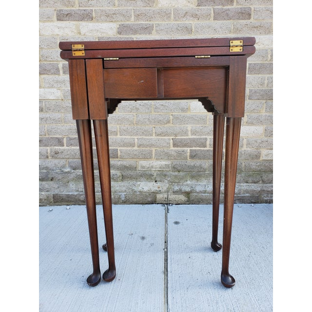 Antique French Mahagony Petite Games Table For Sale - Image 4 of 13