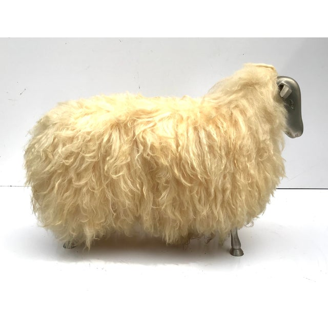 1970's Lalanne Style Sheep Ottoman Stool For Sale In Atlanta - Image 6 of 11