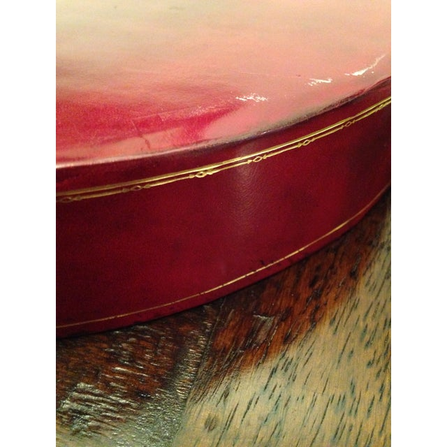 Italian Genuine Calf Leather Tray For Sale - Image 4 of 5