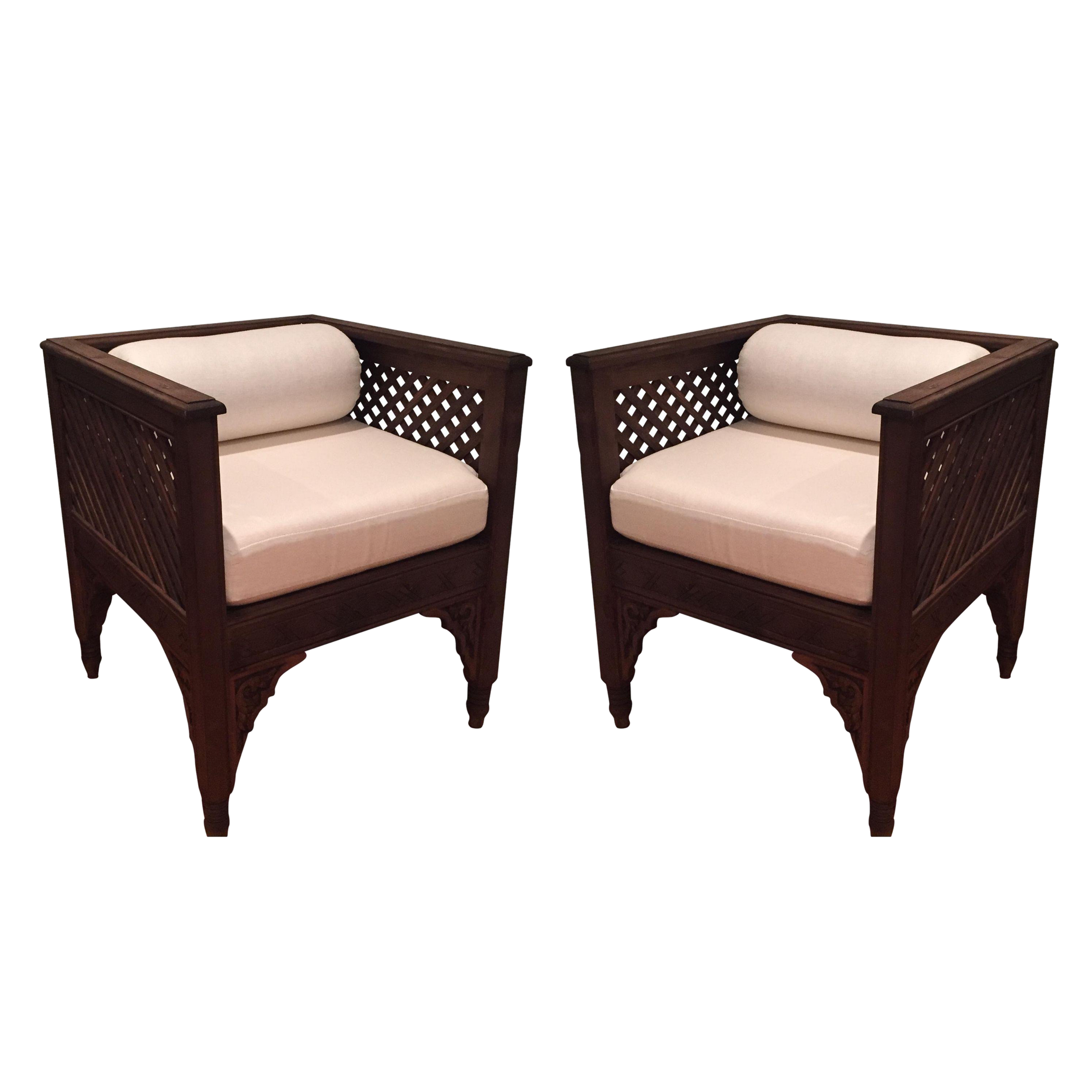 Moroccan Chairs   A Pair