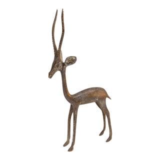 Mid 20th Century African Dark Bronze Gazelle For Sale