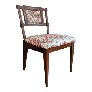 1970s Regency Caned Side Chair For Sale