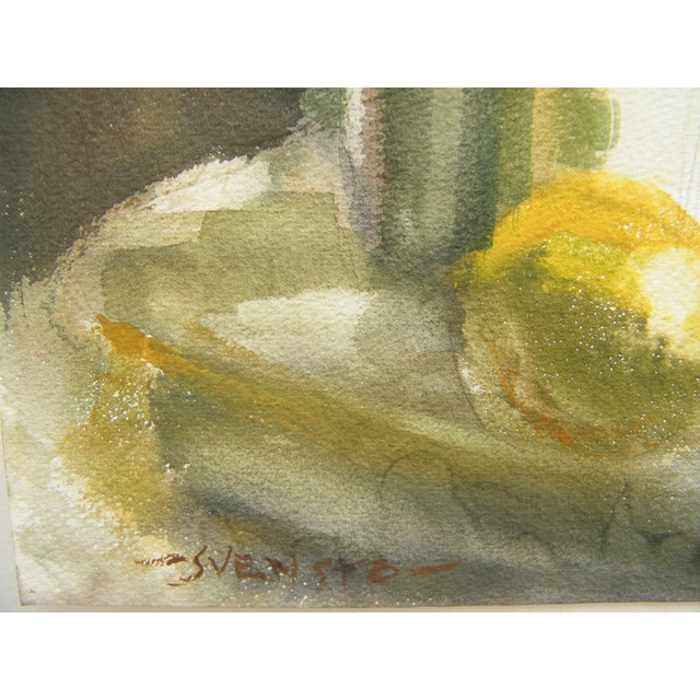 Vintage Still Life Svensto Watercolor Painting - Image 4 of 9