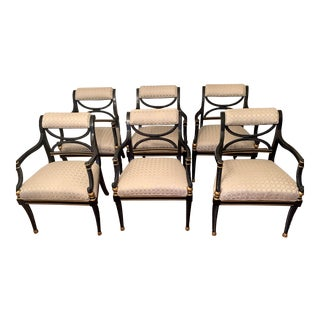 Modern/Contemporary Arm Chairs - Set of 6 For Sale