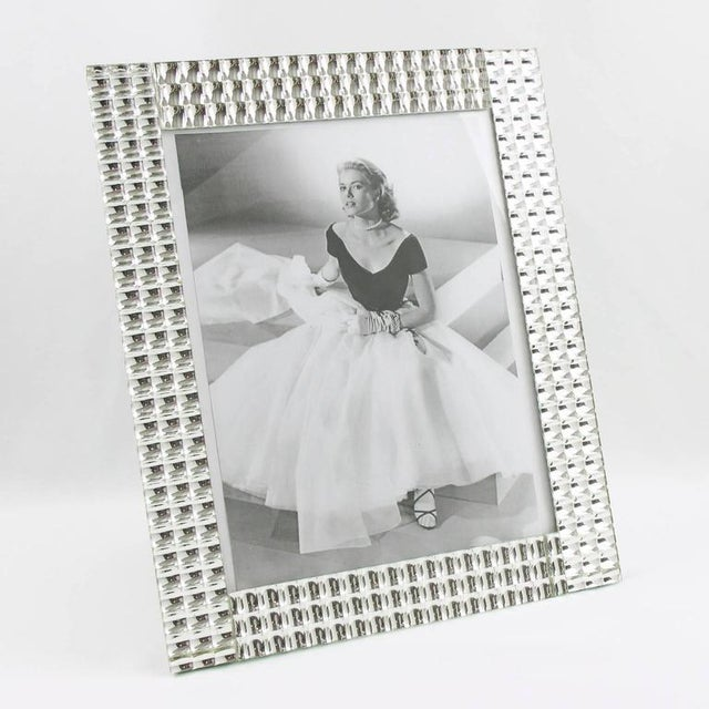 1950s 1950s French Large Mirror Picture Photo Frame For Sale - Image 5 of 6