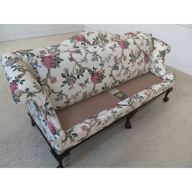 1990s Vintage Hancock & Moore Claw Foot Camelback Sofa For Sale - Image 11 of 13
